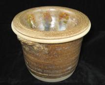 Two-Piece Dip Chiller Crock: Brown Slate Glaze