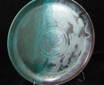 Platter: Power Turquoise & Antique Jade Glazes