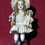 Bru Doll with Dolly and Bear by Lynn McEntire