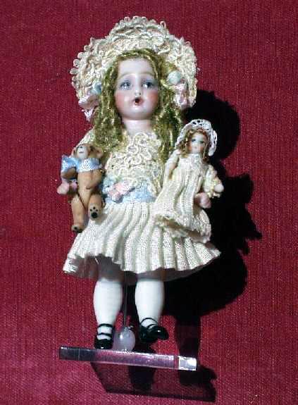 Bru Doll with Dolly and Bear by Lynn McEntire