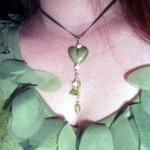 Necklace with Heart and Drop