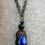 Necklace with Iridescent Pendant