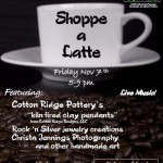 November 2008 Shoppe Latte Flyer Designed by Judy Cleve