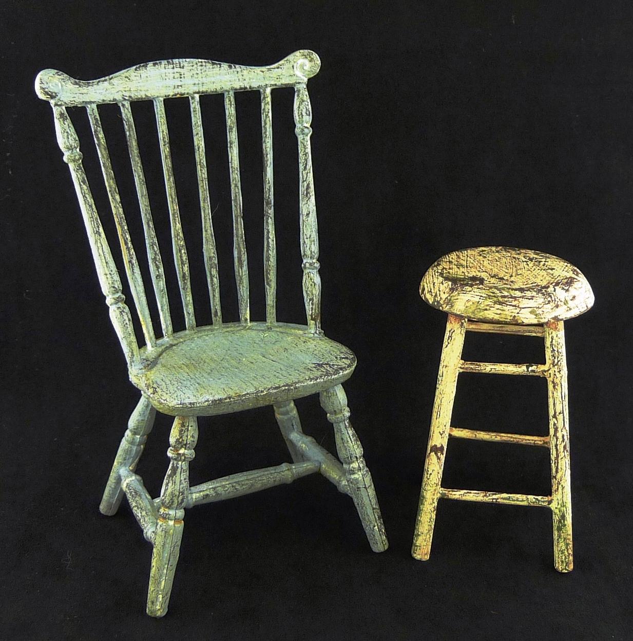 Beau Aged Chair U0026 Stool