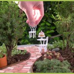 Living Miniature Garden with Brick Pathway