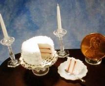 Miniature Coconut Raspberry Cake by Kathryn Depew