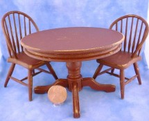 Miniature Painted & Distressed Table & Chairs by Kathryn Depew