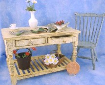 Miniature Flower Arranging Table by Kathryn Depew
