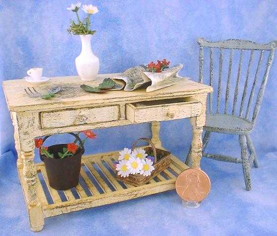 Miniature Flower Arranging Table by Kathryn Depew