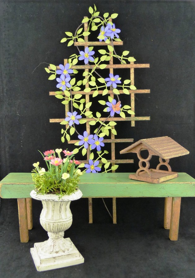 Miniature Gardening Bench Trellis Amp Accessories Tutorial