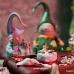 Miniature Christmas Elves by Pixie Dust Miniatures