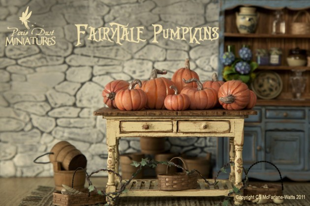 Miniature Fairytale Pumpkins by Pixie Dust Miniatures