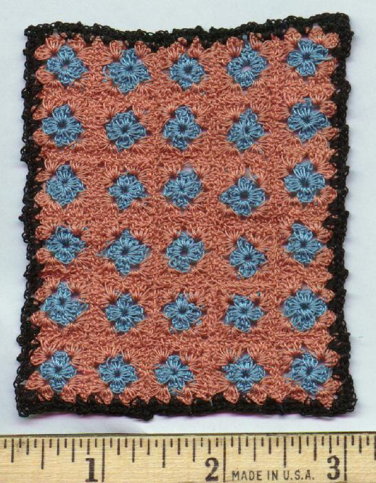 One Inch Scale Miniature Granny Square Afghan by Kathryn Depew