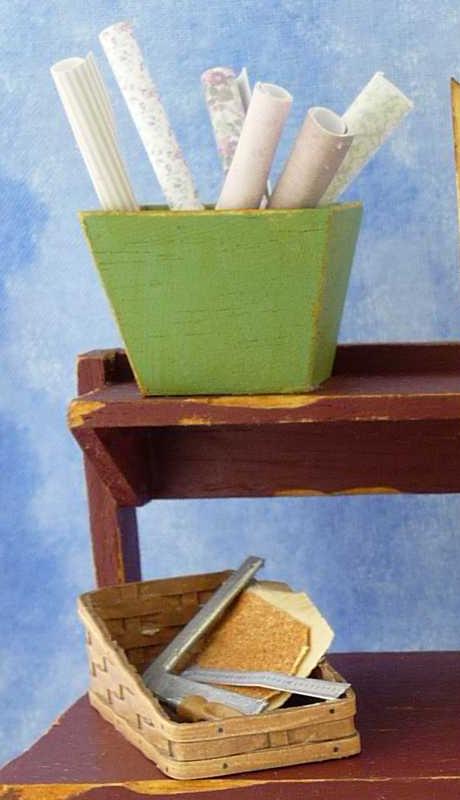 Miniature Dollhouse on Workbench by Kathryn Depew - Left View