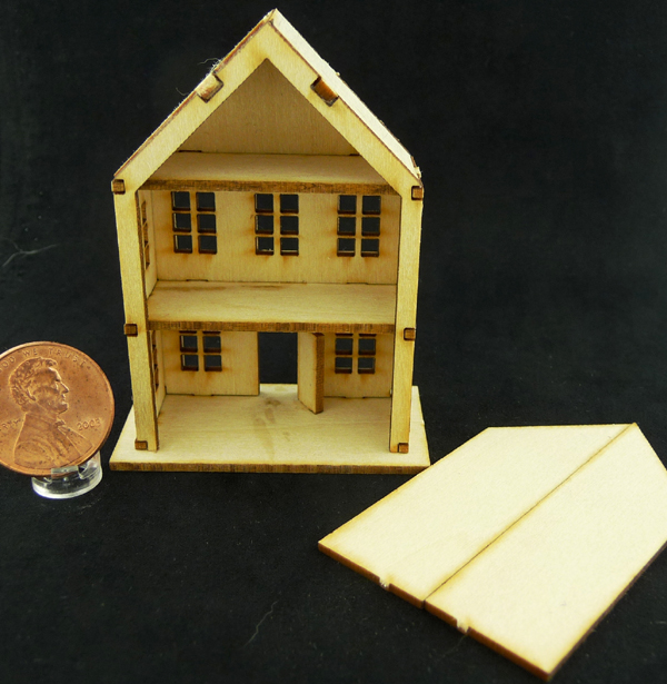 Dragonfly Dollhouse for a Dollhouse Kit - Back View