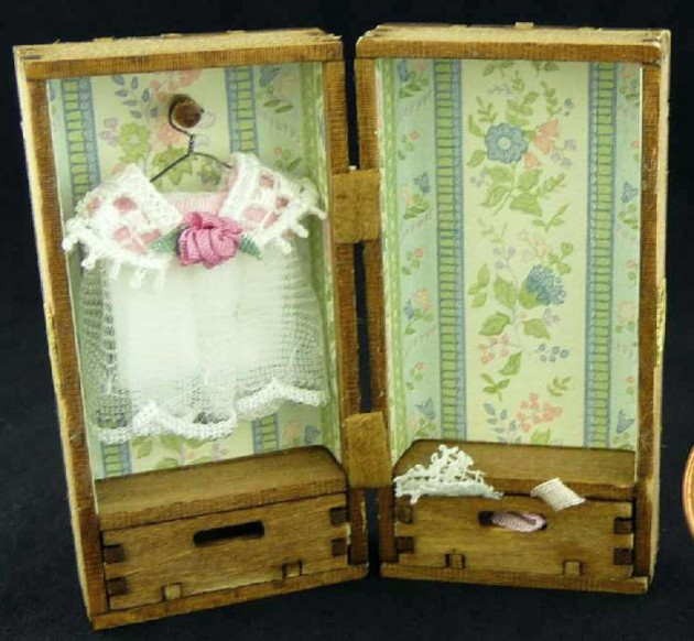 Miniature Doll Trunk by Kathryn Depew