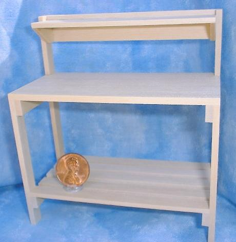 Unfinished Miniature Potting Bench by Falcon Miniatures