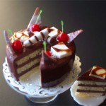 Chocolate Frosted Cake by Teresa Martinez
