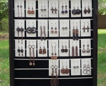 Completed Earring Display Rack