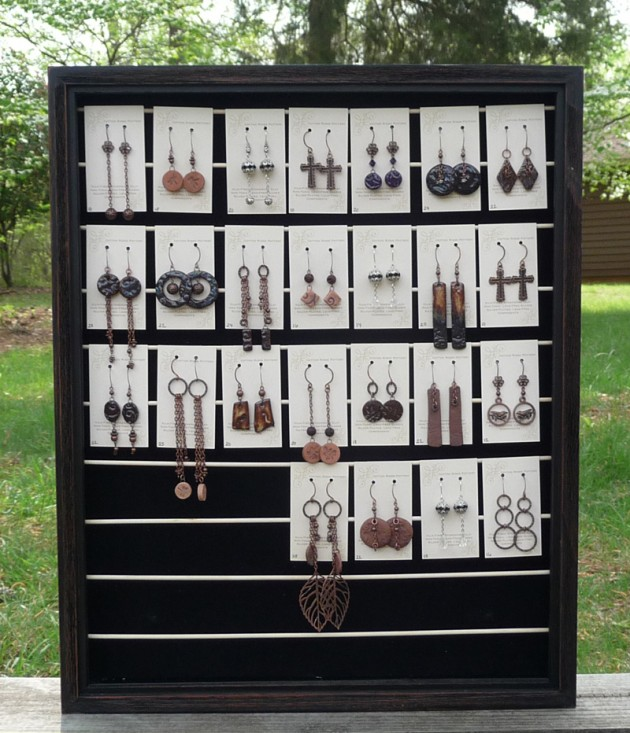 Diy Shadow Box Earring Display Rack For Craft Shows