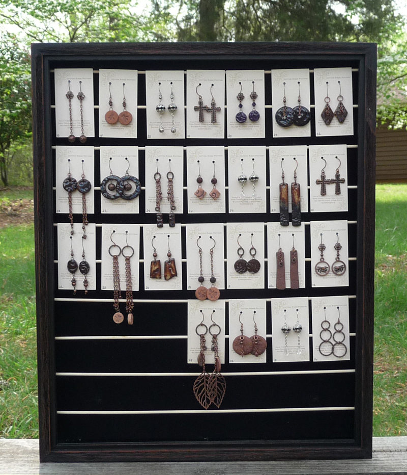 great ideas on pinterest necklace display earring cards. Black Bedroom Furniture Sets. Home Design Ideas