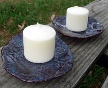 Denim Blue Candleholders