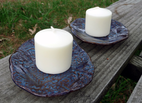 Denim Blue Candleholders