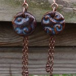 Denim Blue Clay Earrings 2