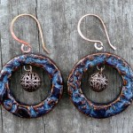 Denim Blue Clay Earrings 5