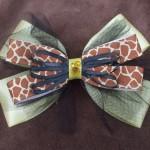 Giraffe Hair Bow by Dani Carter