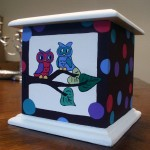 Handpainted Box by Dani Carter