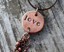 Iron Oxide Collection Clay Love Pendant