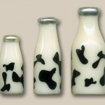 Miniature Milk Bottles by Silvia Bolchi