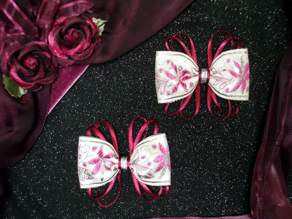 Poinsettia Hair Bows by Dani Carter