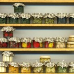 Preserves on Shelf by Silvia Bolchi