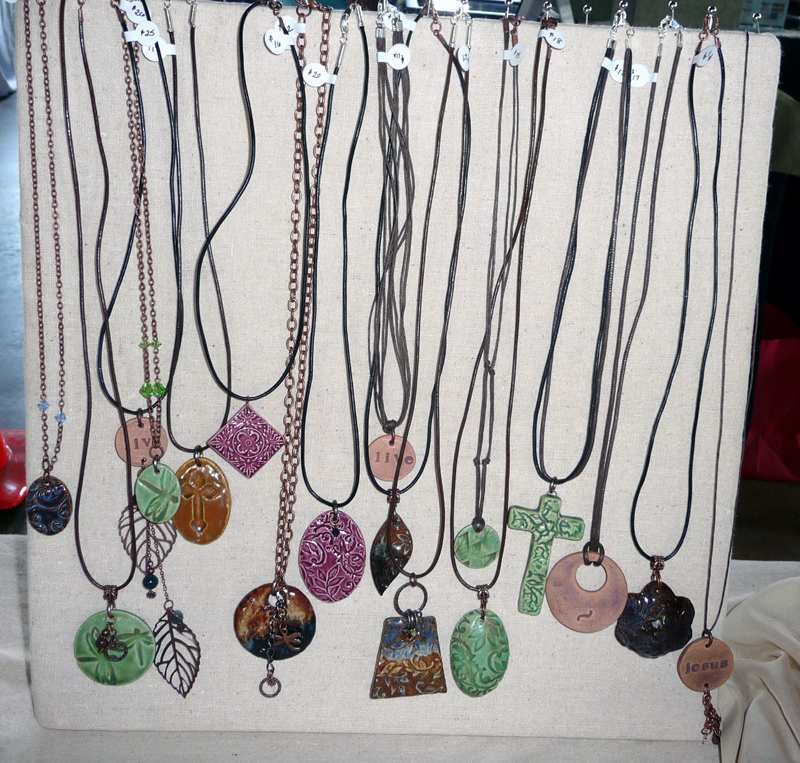 diy standing necklace display for craft shows cotton