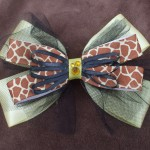 Giraffe Hair Bow by Dani Carter
