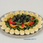 Miniature Deviled Eggs Platter by Linda Cummings