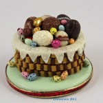 Miniature Easter Egg Basket Cake by Linda Cummings