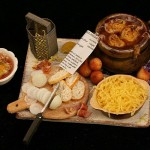 Miniature French Onion Soup Prep Board by Linda Cummings