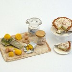 Miniature Lemon Meringue Preparation Board by Linda Cummings