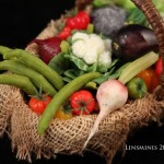 Miniature Vegetable Basket by Linda Cummings