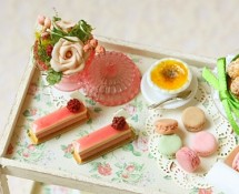 Miniature Flowers and Desserts by Pei Li