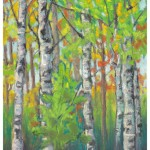 Early Autumn Birches by Angela Vandenbogaard