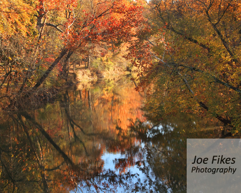 Flint River in Autumn Huntsville, AL by Joe Fikes