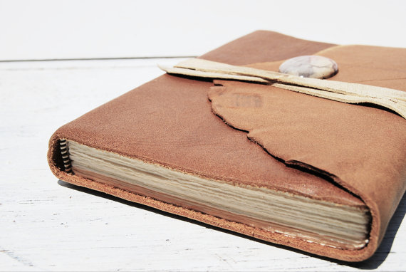 Handmade Leather Travel Diary by Michael Graham