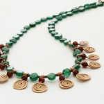 Necklace with Copper Spirals by Yelena Turetsky Merener