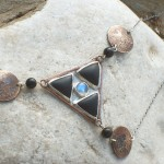 Triangle Pendant by Yelena Turetsky Merener