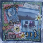 Beach Scrapbooking Page by Alison Harris