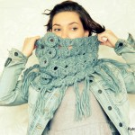 Broomstick Lace Crochet Cowl by Maya